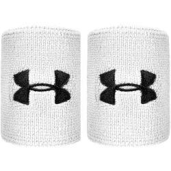 Under Armour Performance Poignet Pack De 2 Unités Blanc Noir