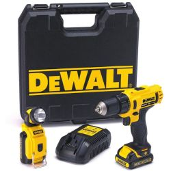 Perceuse visseuse sans fil Dewalt DCD710D2F DCD710D2F QW 10.8 V 2.0 Ah 2 batteries mallette 1 pc(s)