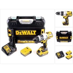 DeWalt Perceuse visseuse a percussion 18V Li Ion 2 x 5Ah 95 Nm mandrin 1.5 13 mm DCD996P2