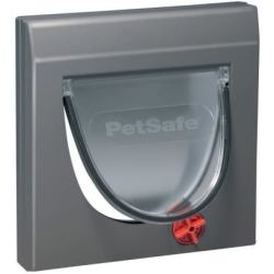 petsafe chatiere staywell classique gris anthracite pour chat