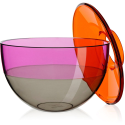 KARTELL vase SHIBUYA (Orange rouge Gris PMMA transparent)