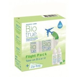 Biotrue Flight Pack solution lentilles 2 x 60 ml Zip Bag
