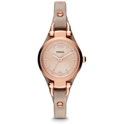 Fossil Women Montre Georgia En Cuir Petit Modèle Sable Marron One size