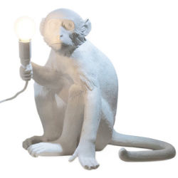 Lampe de table Monkey Sitting Indoor H 32 cm Seletti blanc en matière plastique