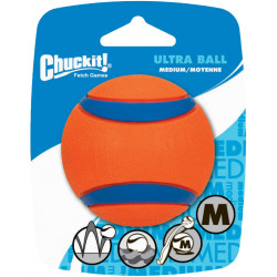 Balle Chuckit Ultra taille moyenne une pièce