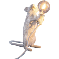 SELETTI lampe de table MOUSE LAMP à LED (Debout Résine)