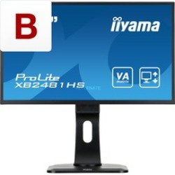 ProLite XB2481HS B1 LED display 59 9 cm (23.6 ) 1920 x 1080 pixels Full HD Noir Moniteur LED