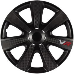 4 Enjoliveurs 16p Carbon Noir Carplus