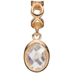 Bijoux Femme Christina Sterling Silver Moving Crystal Bead Charm 623 G48