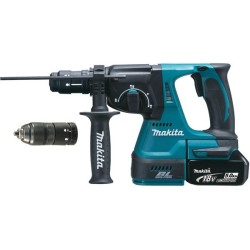 Marteau perforateur burineur sans fil Makita DHR243RTJ 18 V 5 Ah Li Ion 1 pc(s)